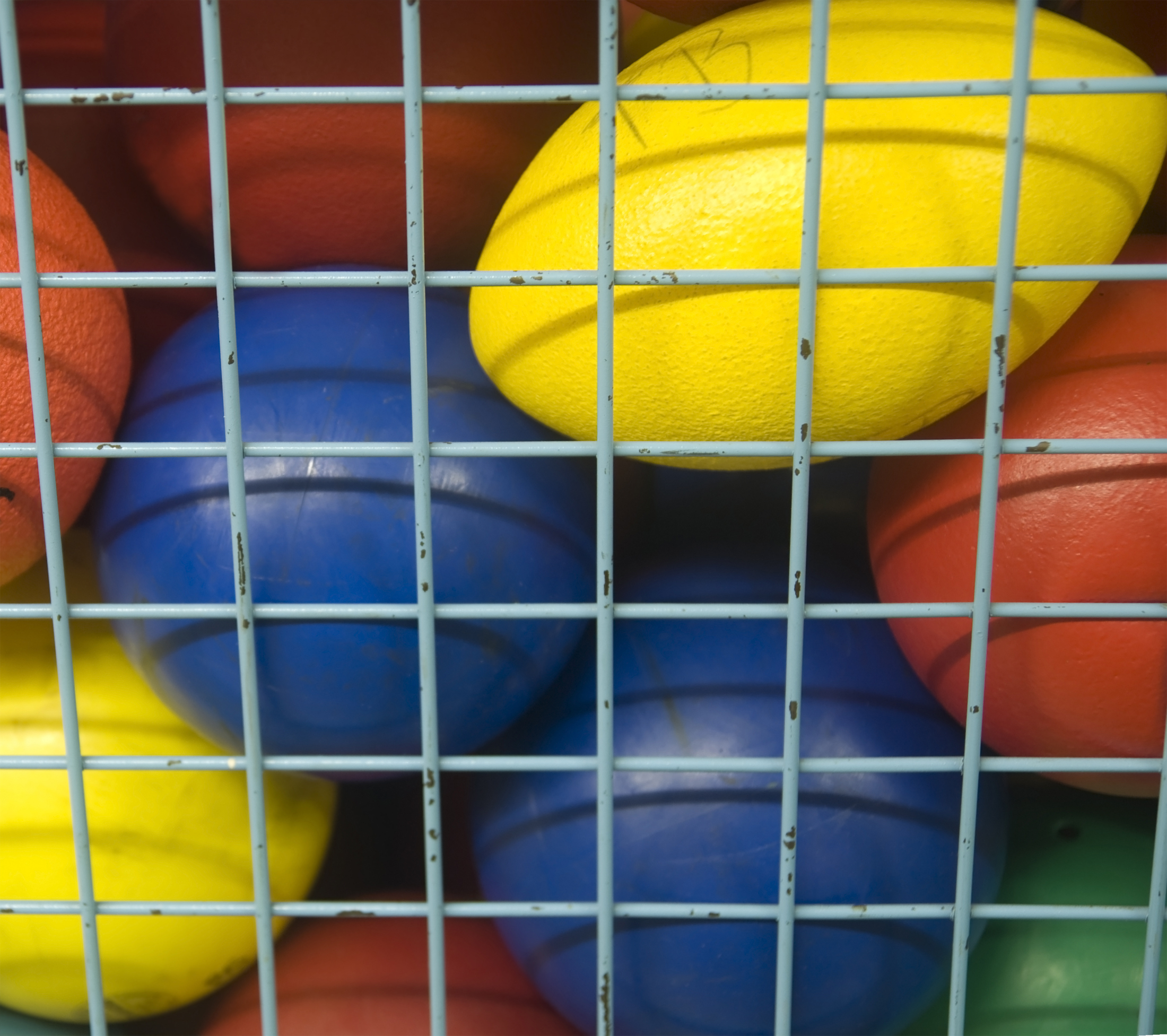 Image of colorful sports equipment.